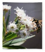 Wasp Closeup Fleece Blanket