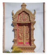Wat Buppharam Phra Wihan Window Dthcm1581 Fleece Blanket