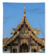 Wat Jed Yod Gable Of The Vihara Of The 700 Years Image Dthcm0963 Fleece Blanket
