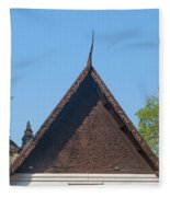 Wat Jed Yod Phra Ubosot Teakwood Gable Dthcm0968 Fleece Blanket