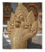 Wat Kumpa Pradit Phra Wihan Five-headed Naga Dthcm1664 Fleece Blanket