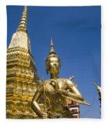 Wat Phra Kaeo Fleece Blanket