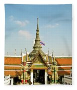 Wat Po Bangkok Thailand 13 Fleece Blanket