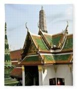 Wat Po Bangkok Thailand 14 Fleece Blanket