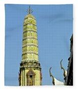 Wat Po Bangkok Thailand 21 Fleece Blanket