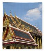 Wat Po Bangkok Thailand 24 Fleece Blanket