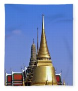 Wat Po Bangkok Thailand 3 Fleece Blanket