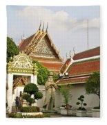 Wat Po Bangkok Thailand 35 Fleece Blanket