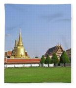 Wat Po Bangkok Thailand 37 Fleece Blanket