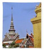 Wat Po Bangkok Thailand 6 Fleece Blanket