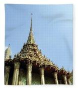 Wat Po Bangkok Thailand 8 Fleece Blanket
