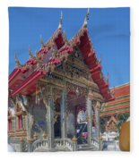 Wat Prachum Khongkha Phra Wihan Dthcb0174 Fleece Blanket