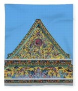 Wat Ratcha Orasaram Phra Wihan Gable Dthb0862 Fleece Blanket