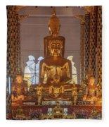 Wat Suan Dok Wihan Luang Buddha Images Dthcm0952 Fleece Blanket