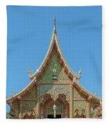 Wat Suan Prig Phra Wihan Gable Dthcm2391 Fleece Blanket