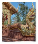 Wat Suan Prig Phra Wihan Makara And Naga Guardian Dthcm2395 Fleece Blanket