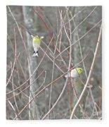 Watch Me One Bird In Flight Fleece Blanket