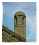 Watch Tower On The Castillo Fleece Blanket