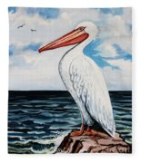 Watcher Of The Sea Fleece Blanket