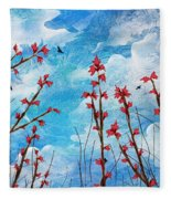 Watching Clouds Go By Fleece Blanket