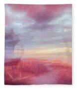 Watching The Day Begin In Watercolors Fleece Blanket