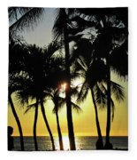 Watching The Hawaiian Sunset  Fleece Blanket