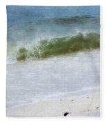 Watching Waves Crest And Break Fleece Blanket