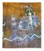 Watchtower Rock Art  Fleece Blanket