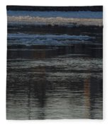 Water And The Ice - Icy River Danube Fleece Blanket