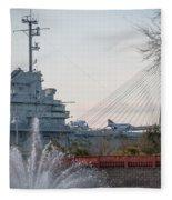 Water And Metal Fleece Blanket
