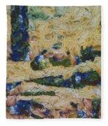 Water And River Delta  Fleece Blanket