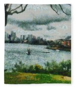 Water And Scenery Fleece Blanket