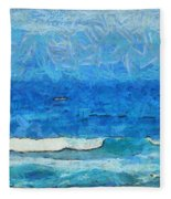Water And Sky Fleece Blanket