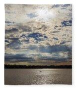 Water And Sky Fleece Blanket