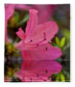 Water Azalea Fleece Blanket