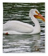 Water Bird With Notches Fleece Blanket