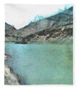Water Body In The Himalayas Fleece Blanket