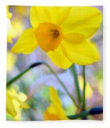 Water Color Daffodil Fleece Blanket