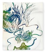 Water Color Poster Of Good And Evil Fleece Blanket