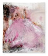 Water Colour Ballerina Fleece Blanket