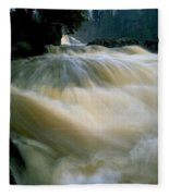 Water Coming Right At You Fleece Blanket