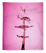 Water Drop 24 Fleece Blanket