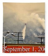 Water Drop On The Station Fire Fleece Blanket