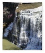 Water Fall In Tennessee  Fleece Blanket