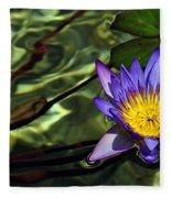 Water Floral Fleece Blanket