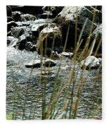 Water Flowing 2 Fleece Blanket