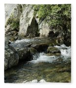 Water Flowing 5 Fleece Blanket