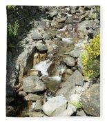 Water Flowing 6 Fleece Blanket