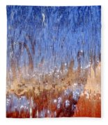 Water Fountain Abstract #63 Fleece Blanket
