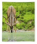 Water Hole Fleece Blanket